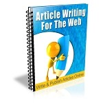 Article Writing for the Web - Newsletter Series (PLR / MRR)