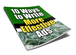 10 Ways to Write More Effective Ads - PLR
