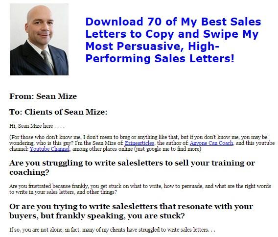 70 Sales Letter Swipe File