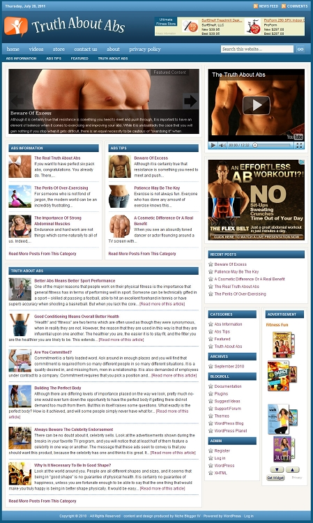 Abs Blog Template (PLR / MRR)