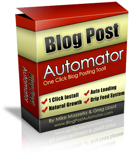 Blog Post Automator Software (PLR / MRR)