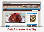 Cake Decorating Niche Wordpress Theme PLR (MRR)