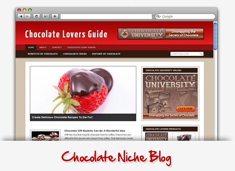 Chocolate Niche Wordpress Theme PLR (MRR)