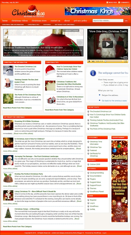 Christmas Blog Template (PLR / MRR)