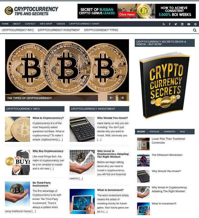 Cryptocurrency PLR Website - Turnkey Cryptocurrency PLR Website (PLR)