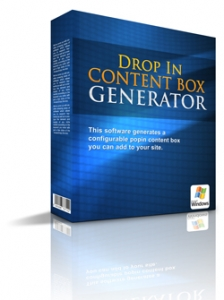 Drop In Content Box Generator (PLR)