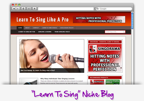 Learn To Sing Niche Blog Theme PLR (MRR)