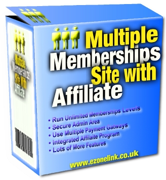 Multiple Memberships Site With Affiliate - Software (PLR / MRR)