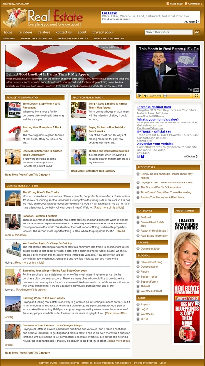 Real Estate Blog Template (PLR / MRR)