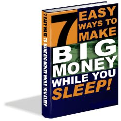 7 Easy Ways to Make Big Money While You Sleep (PLR)