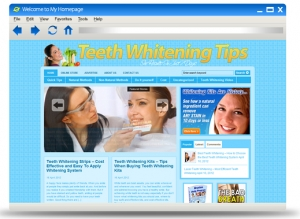 Teeth Whitening Blog Theme (PLR)