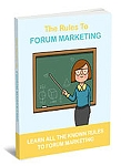 The Rules To Forum Marketing (PLR / MRR)