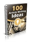 100 Article Writing Ideas (PLR / MRR)