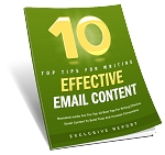 10 Tips For Effective Email Content  (PLR / MRR)