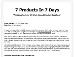 7 Products In 7 Days - PLR Upgrade