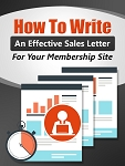 How to Write An Effective Membership Sales Letter - PLR