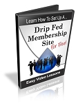 Set Up A Drip Fed Membership Site - PLR