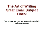 Writing Great Email Subject Lines (PLR / MRR)