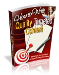 Write Quality Targeted Content (MRR)