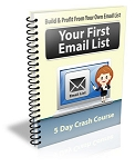 Your First Email List PLR Newsletter (PLR / MRR)