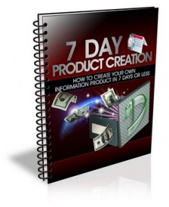 7 Day Product Creation (PLR)