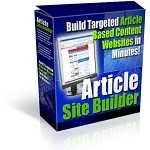 Article Site Builder (PLR / MRR)