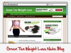 Green Tea Weight Loss Niche Blog (PLR)