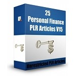 25 Personal Finance PLR Articles V15